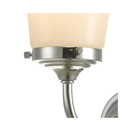 61645-003 Bathroom Polished Chrome and Opal Glass Wall Lamp