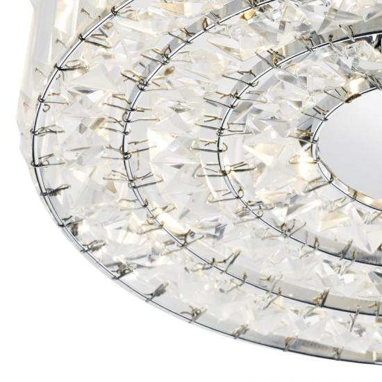 4765-003 Crystal with Polished Chrome 4 Light Ceiling Lamp