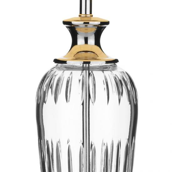5109-003 Polished Chrome & Crystal with White Shade Table Lamp