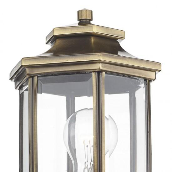 5302-003 Outdoor Antique Brass Lantern Wall Lamp