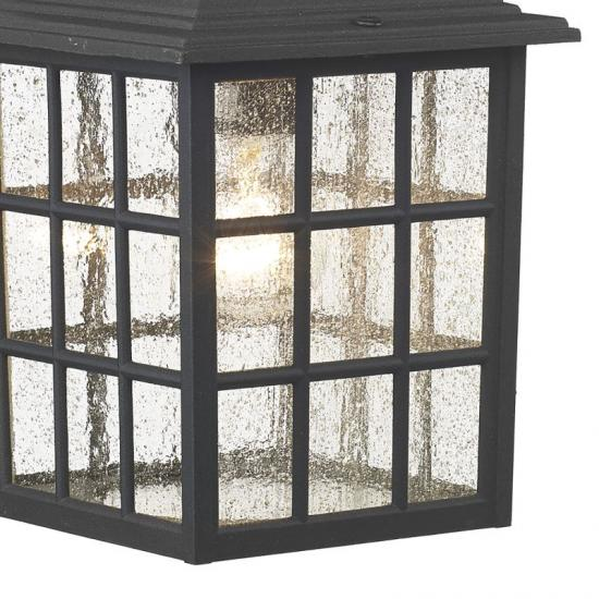 5719-003 Outdoor Black Lantern Wall Lamp