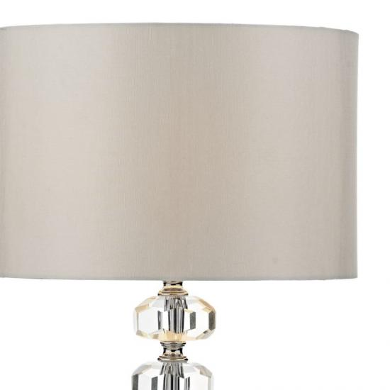 32277-003 Ivory Shade and Chrome with Crystal Table Lamp