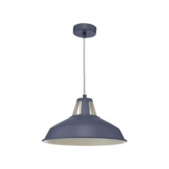 61791-004 Matt Blue Single Pendant