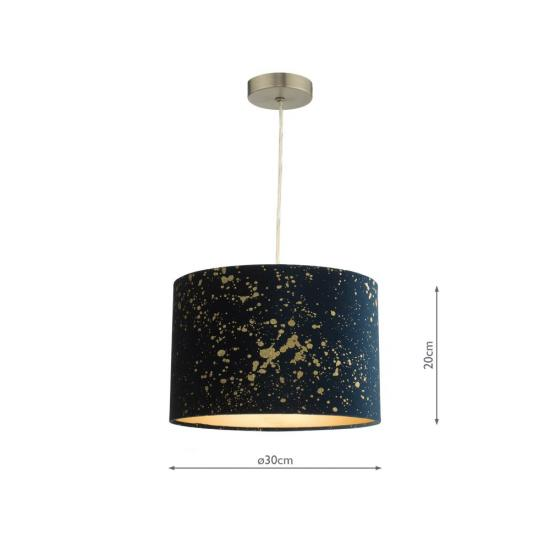 61794-004 Navy & Gold Shade for Pendant