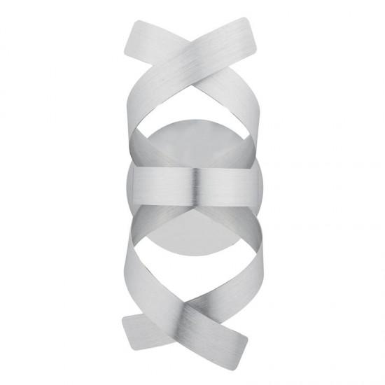 37984-003 Brushed Aluminum Twist Ribbons 1 Light Wall Lamp