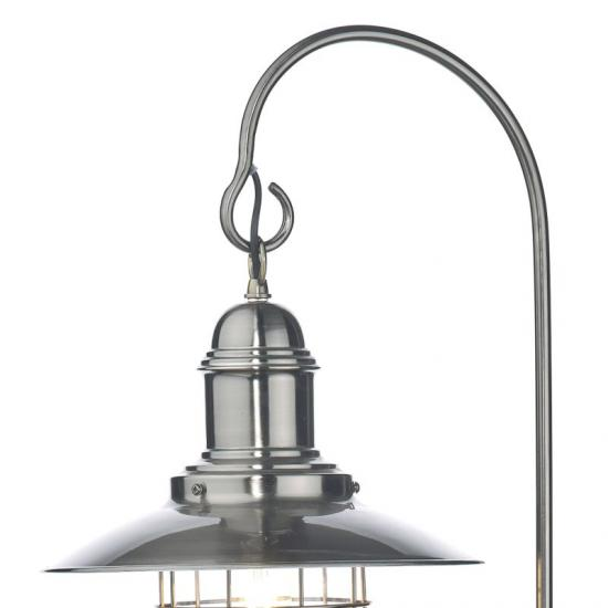 20081-003 Antique Chrome Fisherman's Floor Lamp