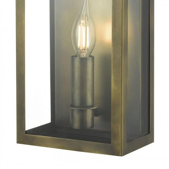53832-003 Outdoor Brass Patina Coach Lantern Single Wall Light