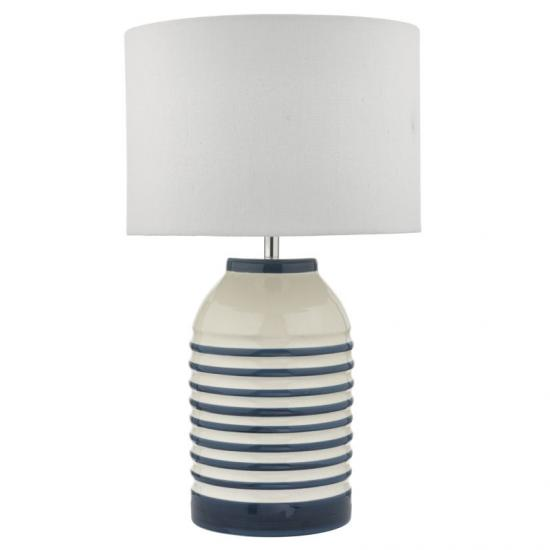 White And Blue Ceramic Table Lamp, Ivory Ceramic Table Lamps