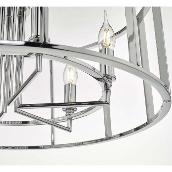 59058-003 Polished Chrome 6 Light Lantern Pendant