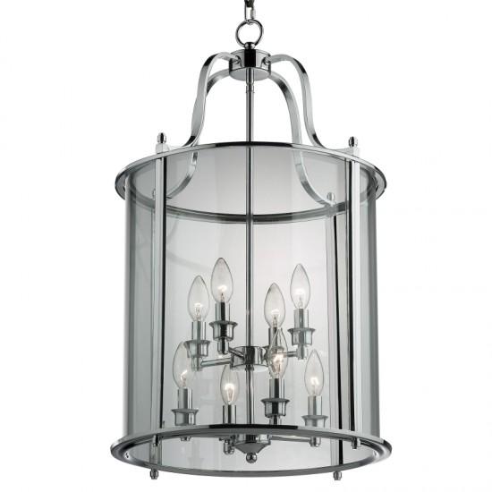 22635-005 Polished Chrome with Glass 8 Light Lantern Pendant