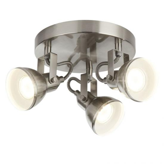 20932-006 Satin Silver 3 Light Round Spotlights
