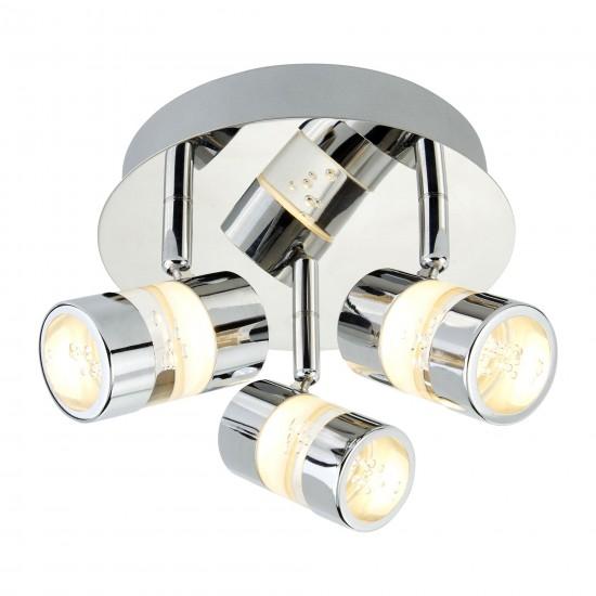 8931-006 Bathroom LED Chrome with Bubble Effect 3 Spotlights