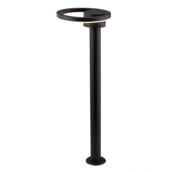 61927-006 Outdoor LED Black & Frosted Post 3000K