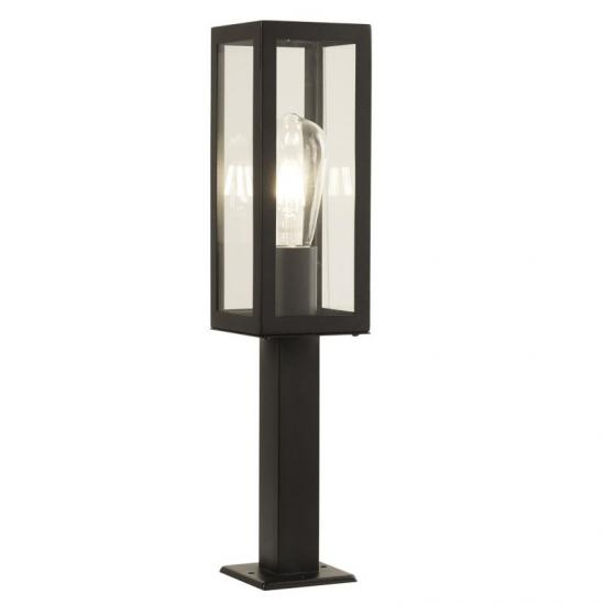 21183-006 Black with Clear Glass Lantern Small Post