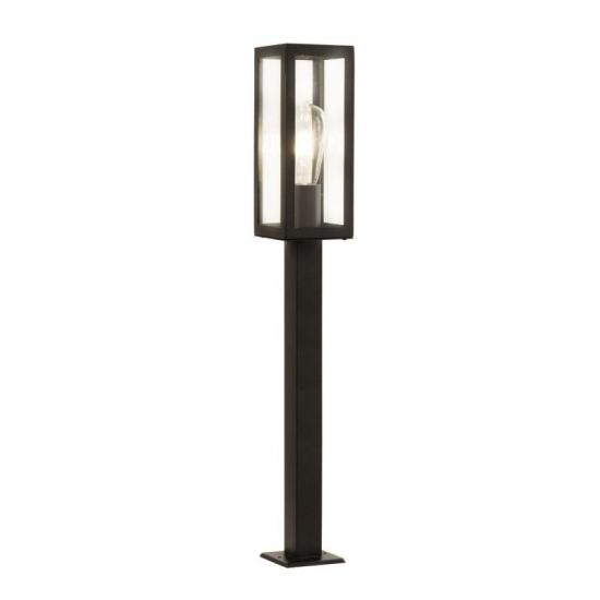 21184-006 Black with Clear Glass Lantern Big Post
