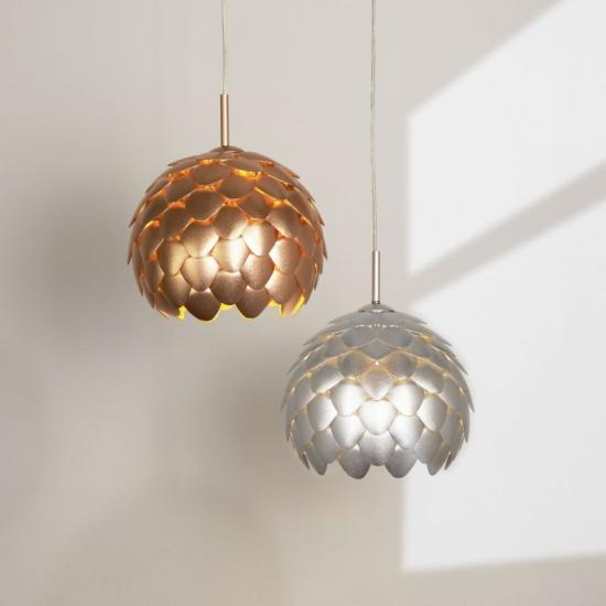 9650-006 Metallic Copper 1 Light Hanging Pendant