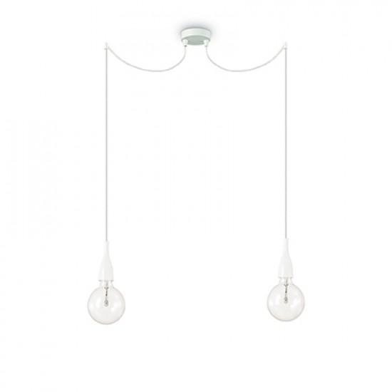 37352-007 White Metal 2 Lights Hanging Pendant