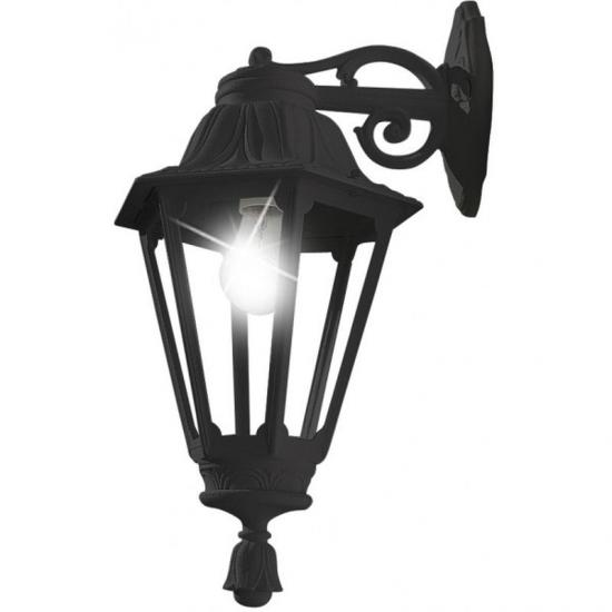 9663-9754-008 Black Hexagonal Lantern Wall Lamp