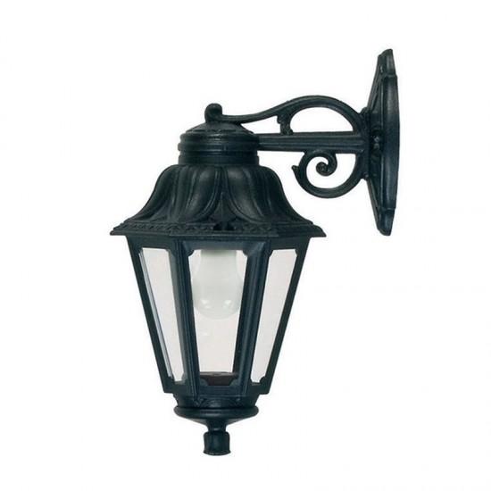 9218-9754-008 Black Hexagonal Lantern Wall Lamp