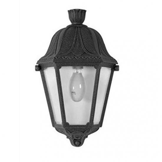 9660-008 Black Half Lantern Wall Lamp