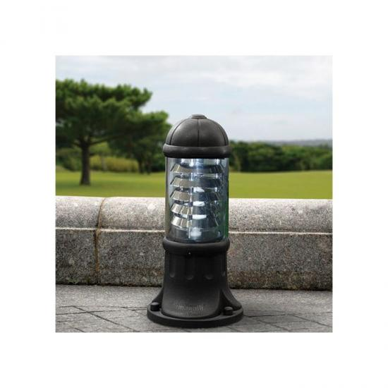 9680-008 Small Black with Clear & Aluminium Bollard