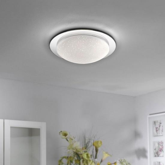 33823-026  Medium 38cm IP44 flush ceiling light sparkling sky look