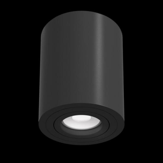 59678-045 Surface-Mounted Black Cylindrical Spotlight