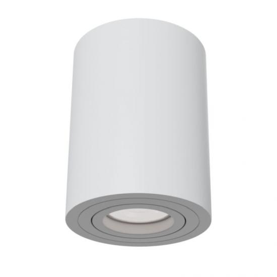 59679-045 Surface-Mounted White Cylindrical Spotlight