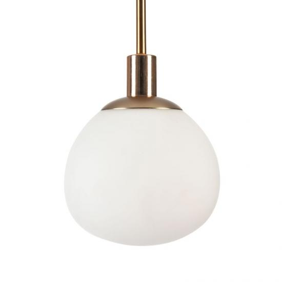 42583-045 Glass Ball Single Pendant -Brass