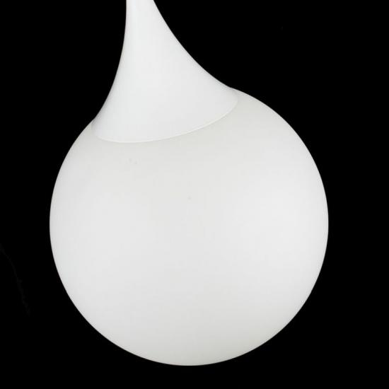 17812-045 White Glass Globe Big Hanging Pendant