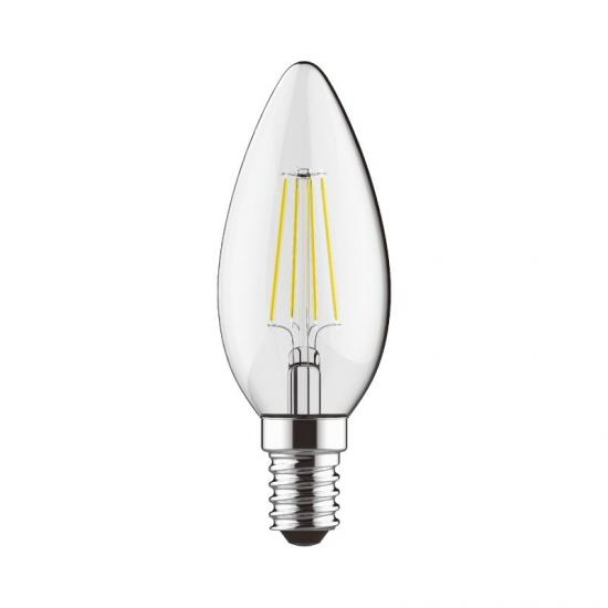 E14 Dimmable Clear Candle Bulb 4W